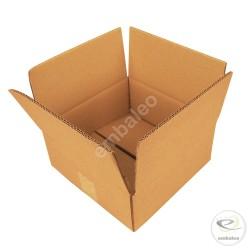 Kartonnen doos dubbelgolf 25 x 25 x 10 cm