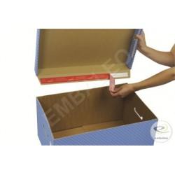 Grijze opbergdozen voor archiefdozen - met deksel 43 x 33,5 x 27 cm