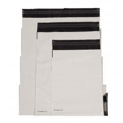 Ondoorzichtige Embaleo zakjes met zijvouwen n°1 27,5 x 35 cm 60µ