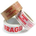 "Bedrukte tape ""Garantiestrook"" en ""Breekbaar"""